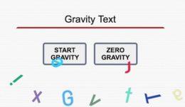 gravity text