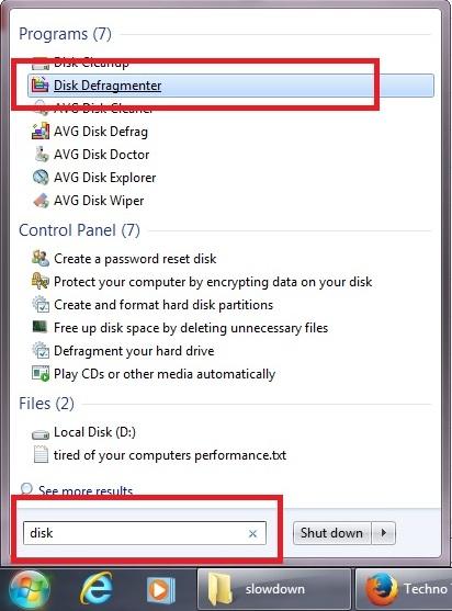 disk defragmnet