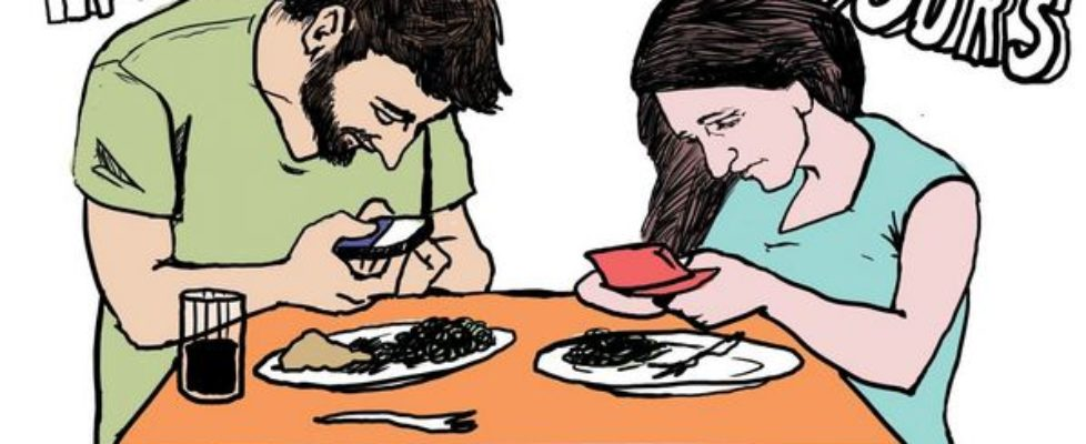 mobile addicted people