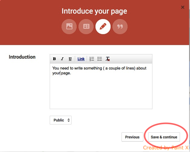 Google Plus page creation guide step 8