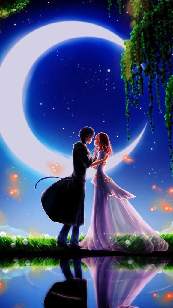 love couple fairytale wallaper
