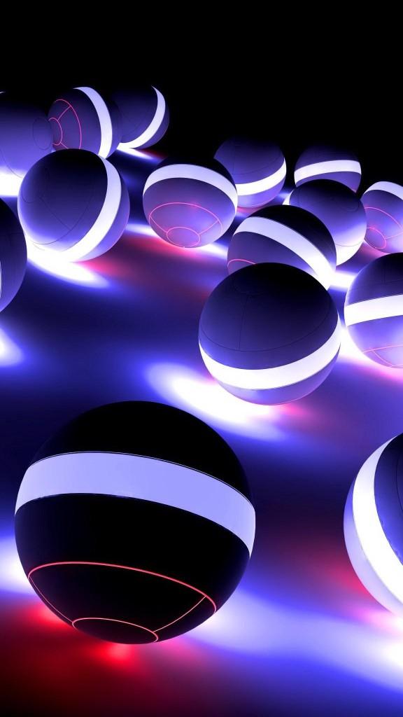 black ball abstract wallapaper