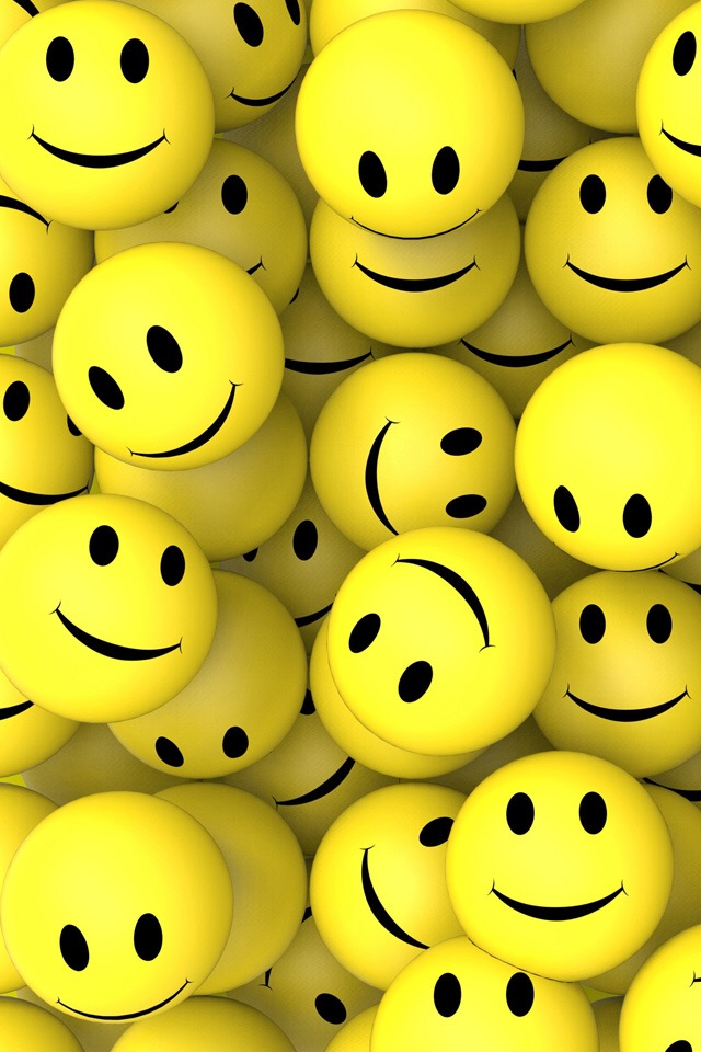 yellow smily wallpaper