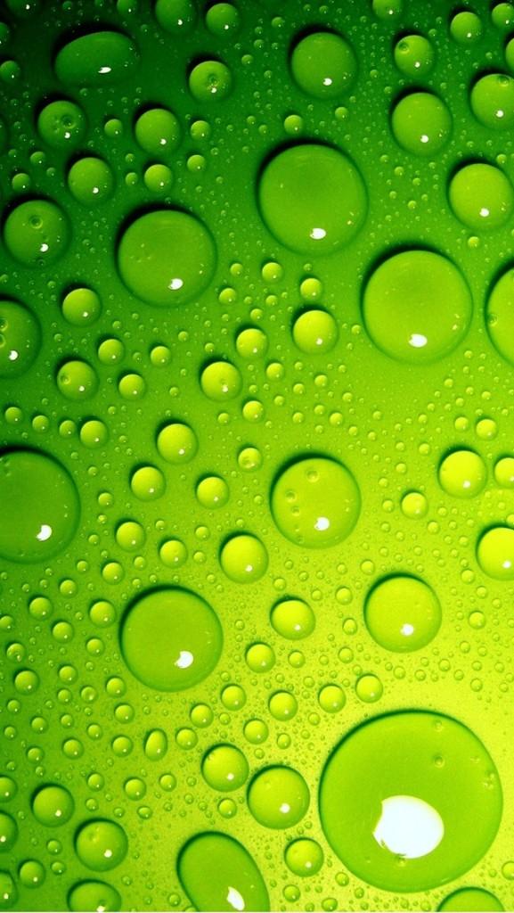 green water drop wallpaper