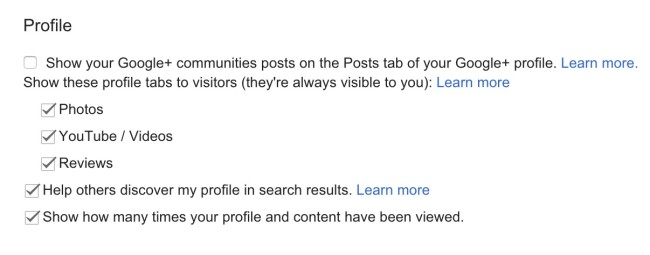 stop showing community posts in my google plus page