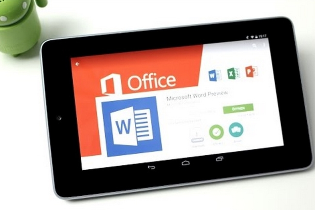 Android tablet with preinstalled MS office OneDrive Skype
