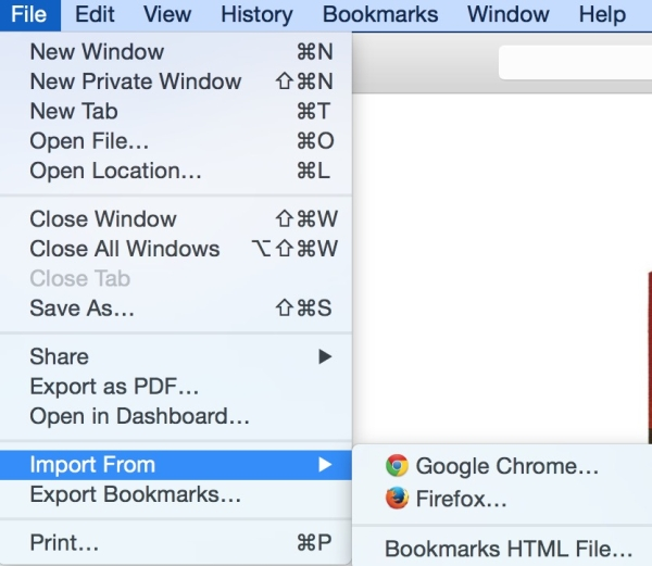 How to import bookmarks from firefox and chrome to firefox