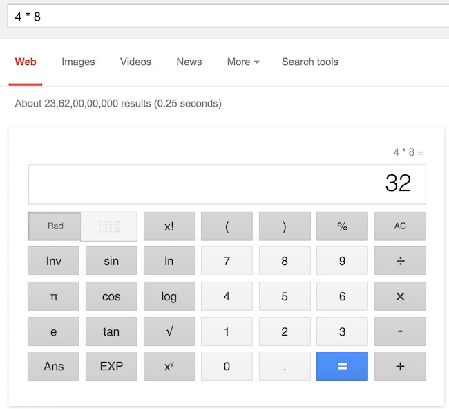 Did you know you can calculate in Google search
