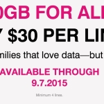 T-Mobile Promotion for 10GB Data, Unlimited calls and texts for $30 per month
