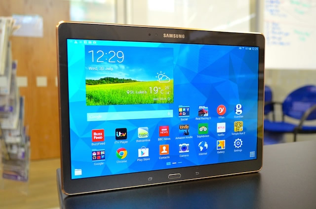 18.4 inches samsung tablet