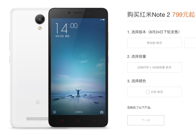 8 Lakhs Redmi note 2 sold in 12 hours