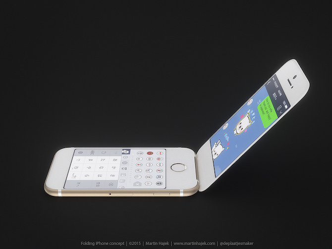How Apple folding iPhone will look