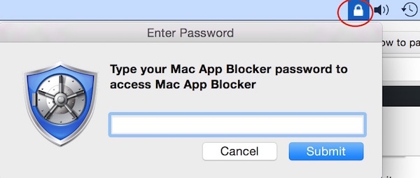 Lock each app on mac with password