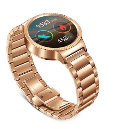 Preorder Huawei SmartWatch in gold color
