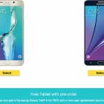 Free Galaxy Tab 4 when Preorder Galaxy Note 5 and S6 Edge Plus