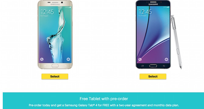Preorder Samsung Galaxy Note 4 and S6 Edgle Plus
