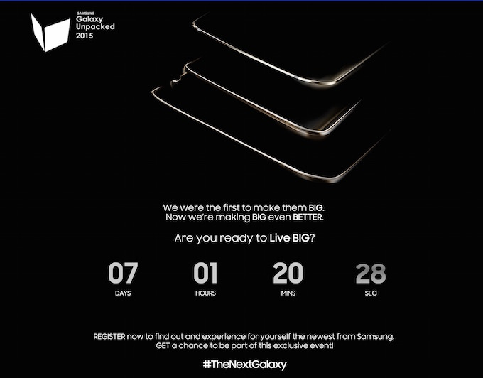 Samsung Galaxy Unpacked Even 2015 teaser