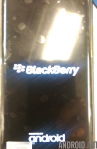 Android based blackberry venice back
