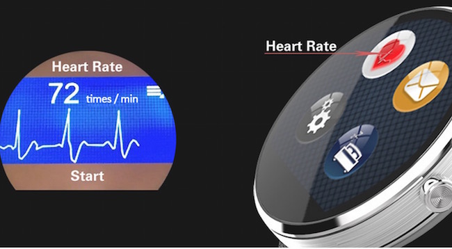 DW360 MTK2502 SmartWatch heart rate sensor