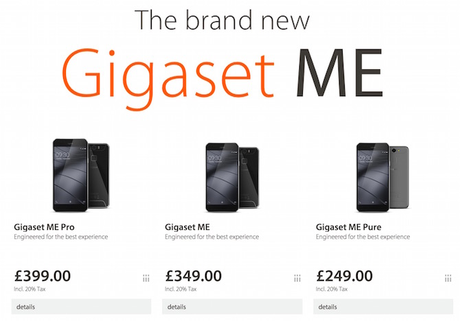 Gigaset android smartphone price