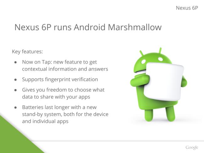 Google Nexus 6P Android 6
