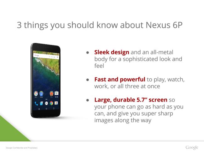 Google Nexus 6P design