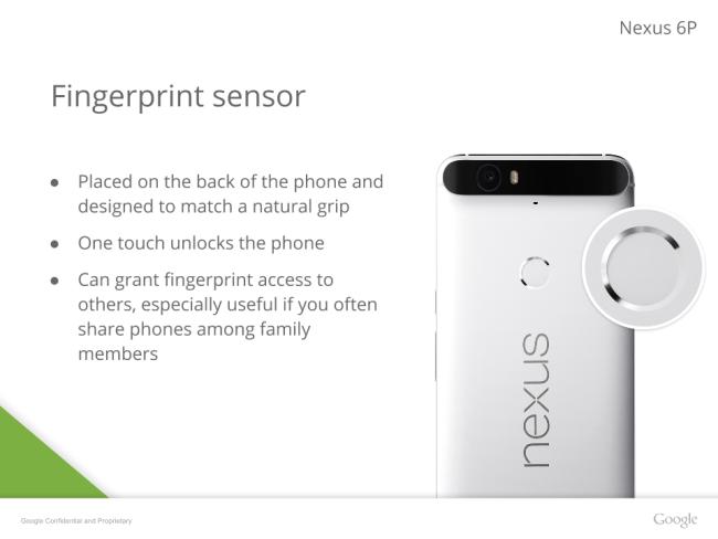 Google Nexus 6P finger print