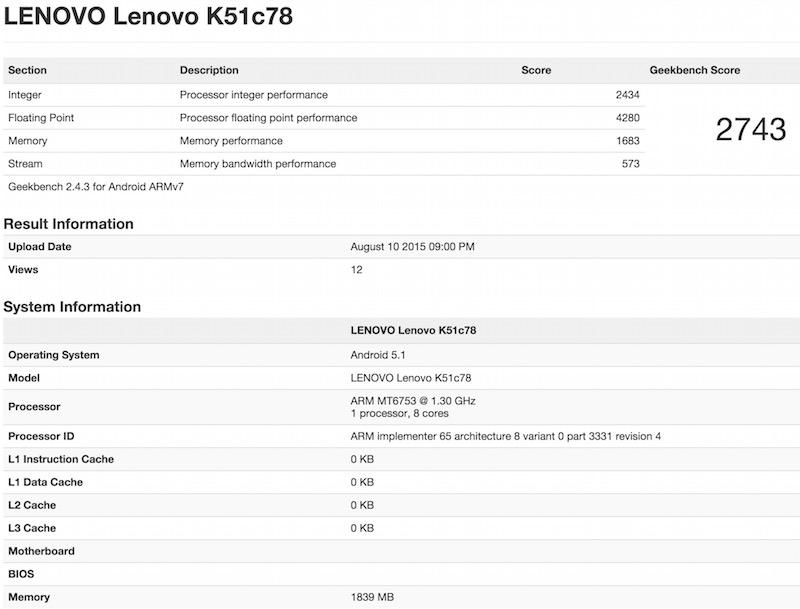 Lenovo K51c78 benchmark