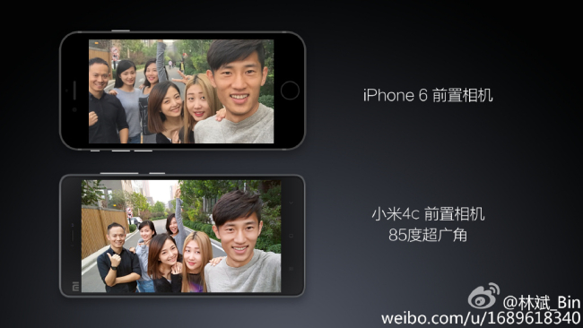 Mi 4c vs iphone 6 from camera