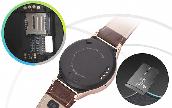 S3 Smartwatch Phone SIM and MicroSD card slot