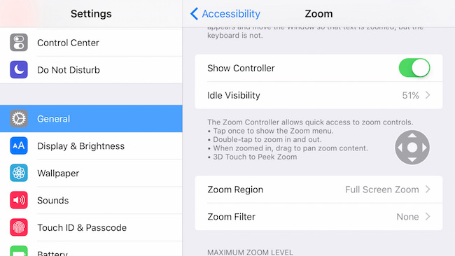 iPhone 6s Peek Zoom 3D feature