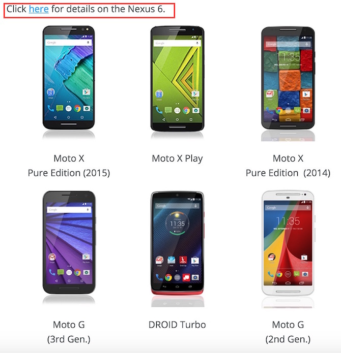 Android 6 marshmallow update for Motorola smartphones