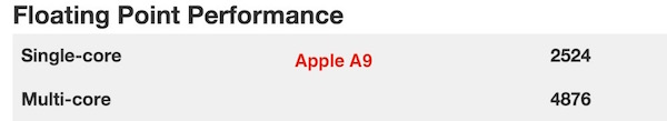 Apple A9 floating point performance
