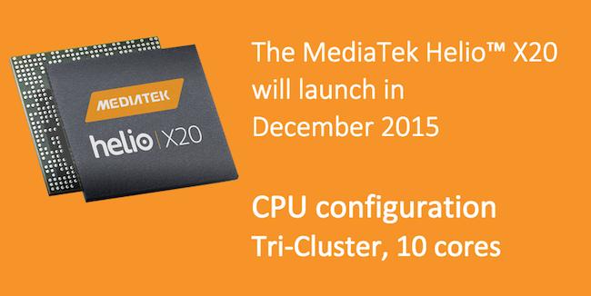 Mediatek Helio X20 Launch date