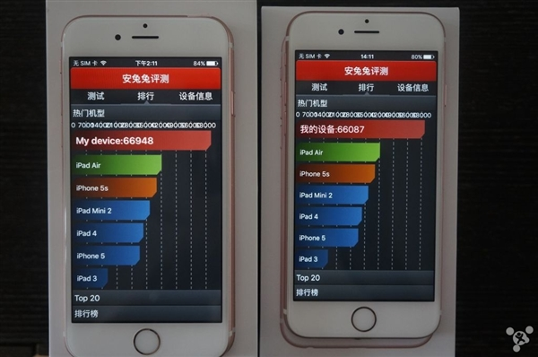 Samsung A9 vs TSMC A9 benchmark performance test 5