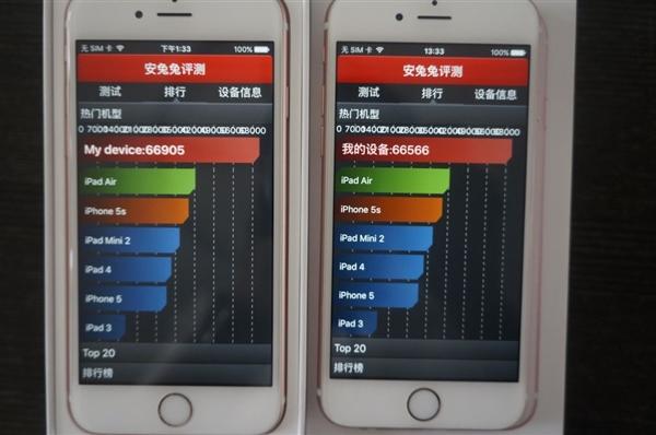 TSMC A9 vs Samsung A9 Antutu benchmark