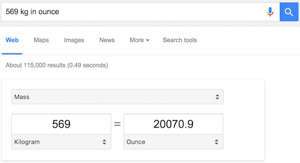 mesurement conversion in google search