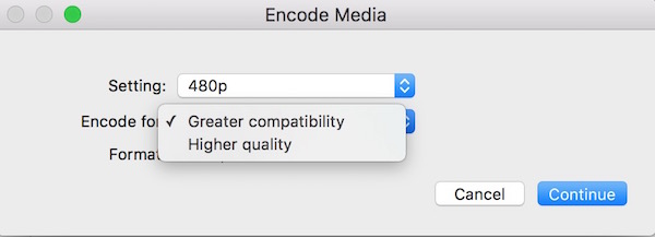 Convert Android compatible video on mac OS X