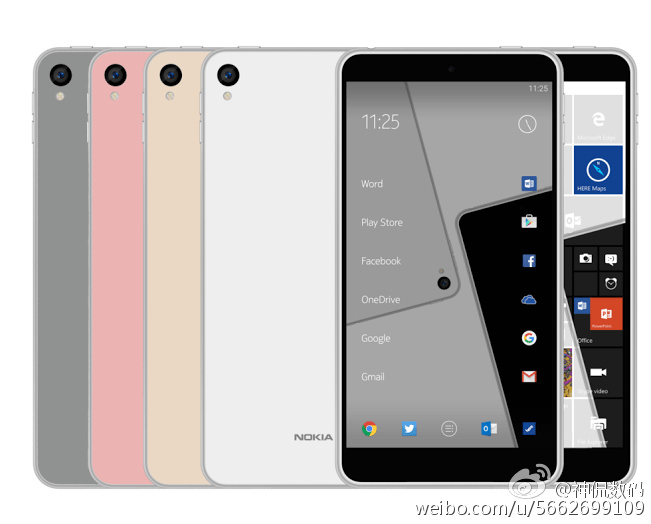 Nokia C1 Android and windows 10 Phone leaked images