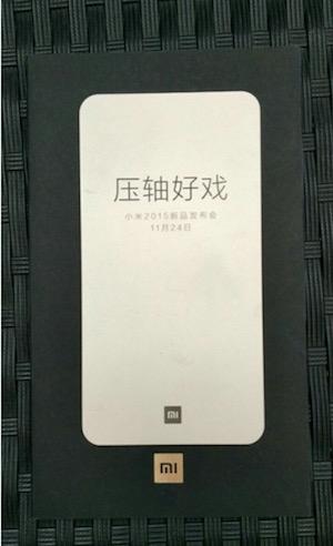 Xiaomi Mi even on 24 November