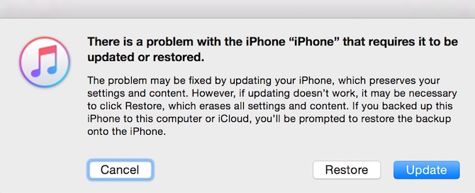 iTune recovery mode to fix iOS device