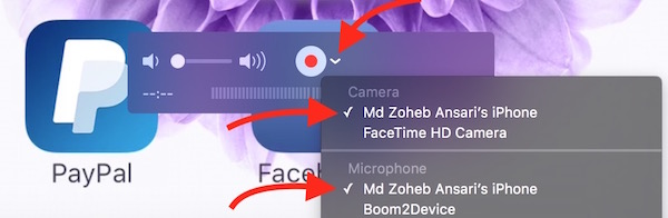 Changing Movie Recording Settings on Quick Time Player
