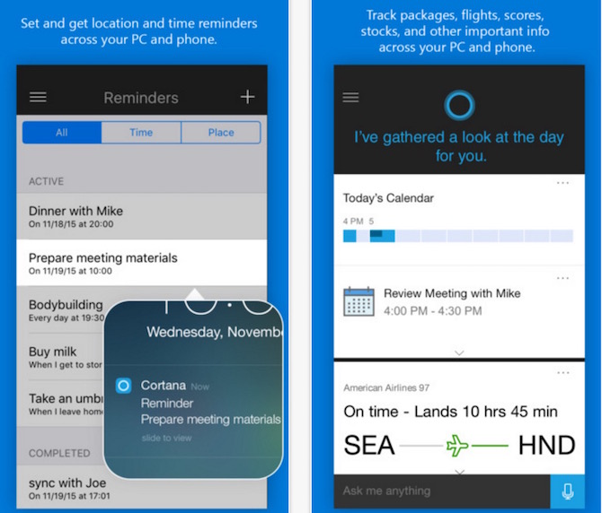 Download Microsoft's Cortana for iOS