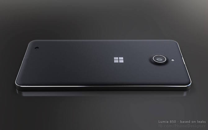 Lumia 850 design