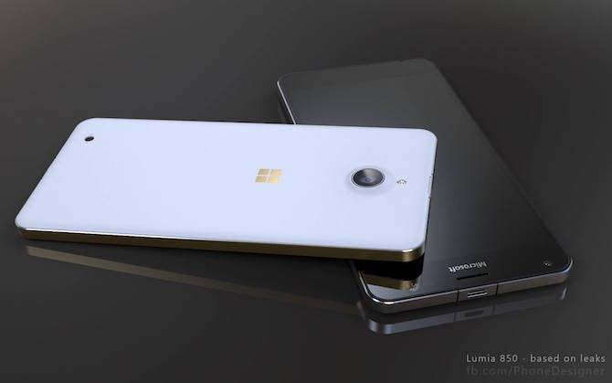 Lumia 850 rendering image