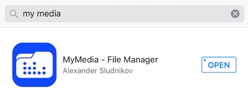 My Media File Manager