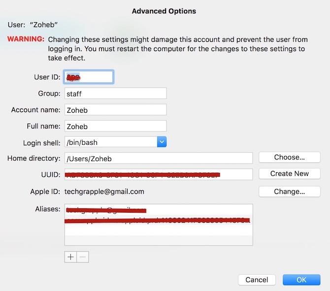 Change MacBook Account Name and Full Name