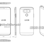 LG G5 Drawing Shows how the device will look like