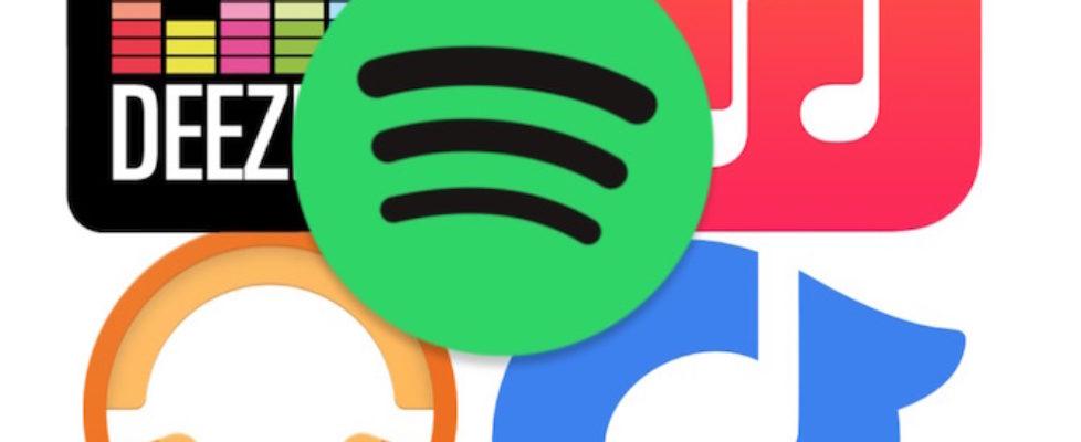 Apple Music vs Deezer vs Google Play Music vs Rdio vs Spotify compare