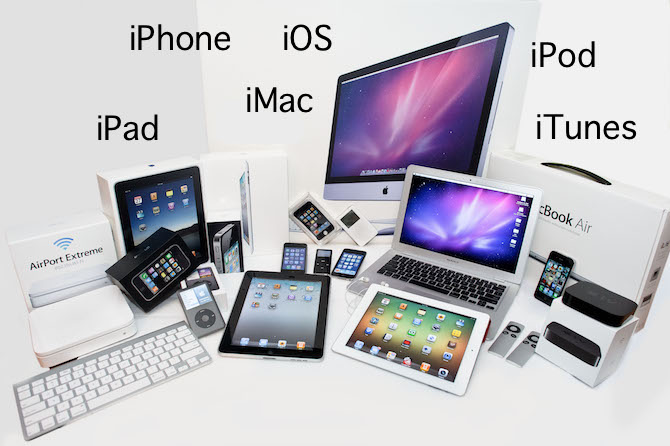 Apple product name and i